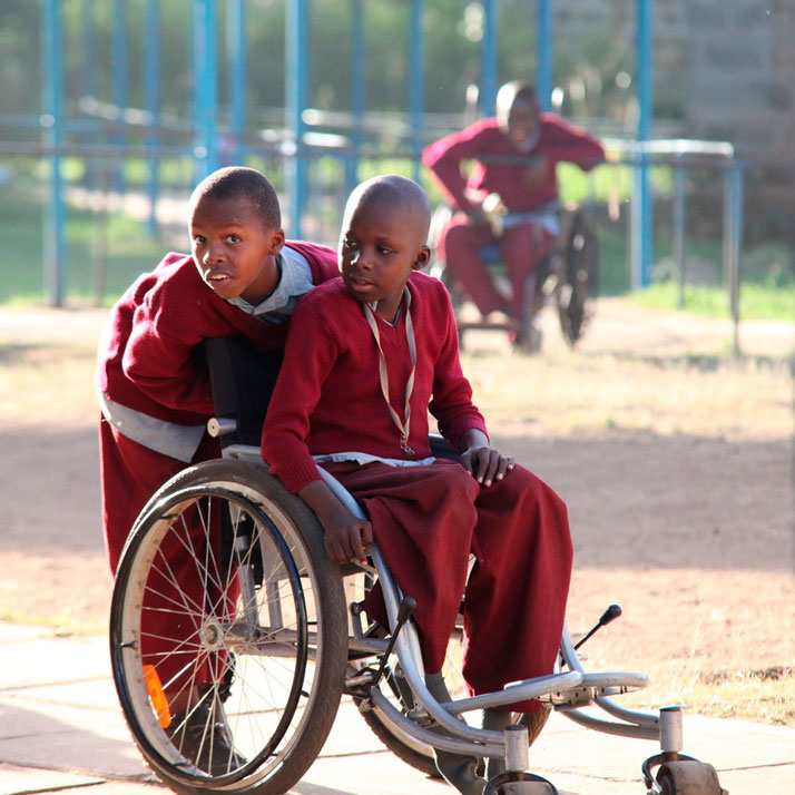 Kinder mit Behinderung in Afrika